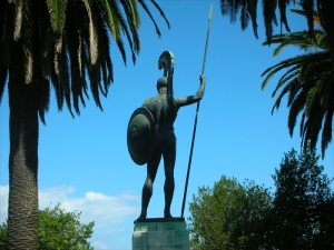 Achilles_Statue_in_Corfu_by_MaJr12