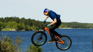 Not a mountain bike, but I'd say that Danny MacAskill's legs count as suspension 1 and 2.